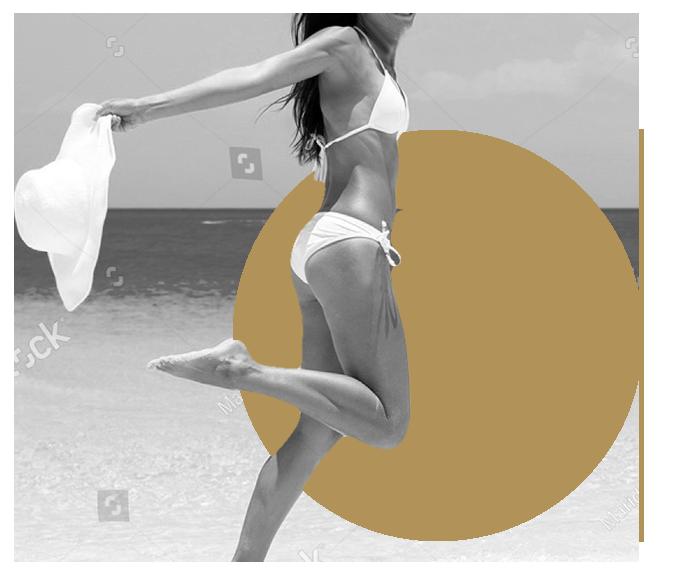 Photographie du corps d'une femme en maillot de bain
