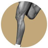Photographie de jambes d'homme épilées